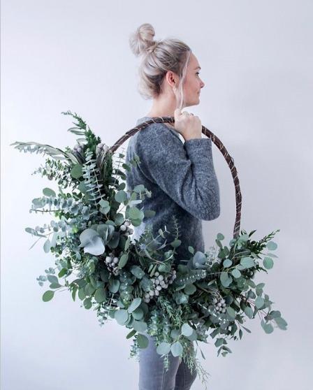 De prachtige krans van Chantal. Hou je van een stoer interieur? Neem dan eens een kijkje op haar Instagram!