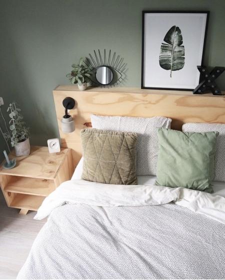 De prachtige ombouw in de slaapkamer