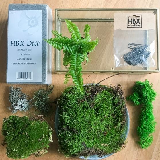Een deel van de spullen die je nodig hebt voor deze DIY