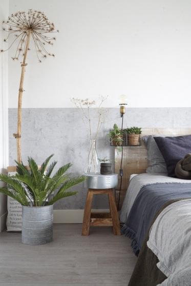 Natuurlijke materialen  in de 'nieuwe' slaapkamer